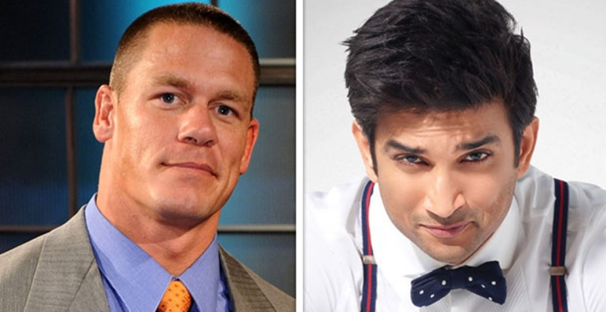 John Cena posts a photo of Sushant Singh Rajput leaving netizens baffled