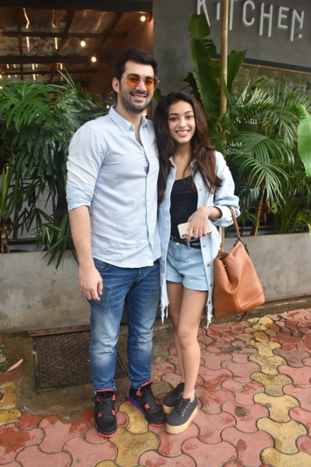 Karan Deol and his Pal Pal Dil Ke Pass co-star Sahher Bambba are busy promoting their debut film. The two were spotted together in Mumbai during promotion.