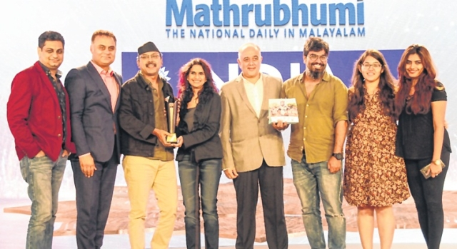 Sunita Bangard, President Marketing, Idea and Josy Paul, Chairman, BBDO India received the trophy from Neeraj Roy, Past President IAA, and MD and CEO, Hungama Digital Media Entertainment Pvt. Ltd and Jaideep R Gandhi, Treasurer, IAA India Chapter and Chairman, Jaya Advertising Pvt. Ltd.