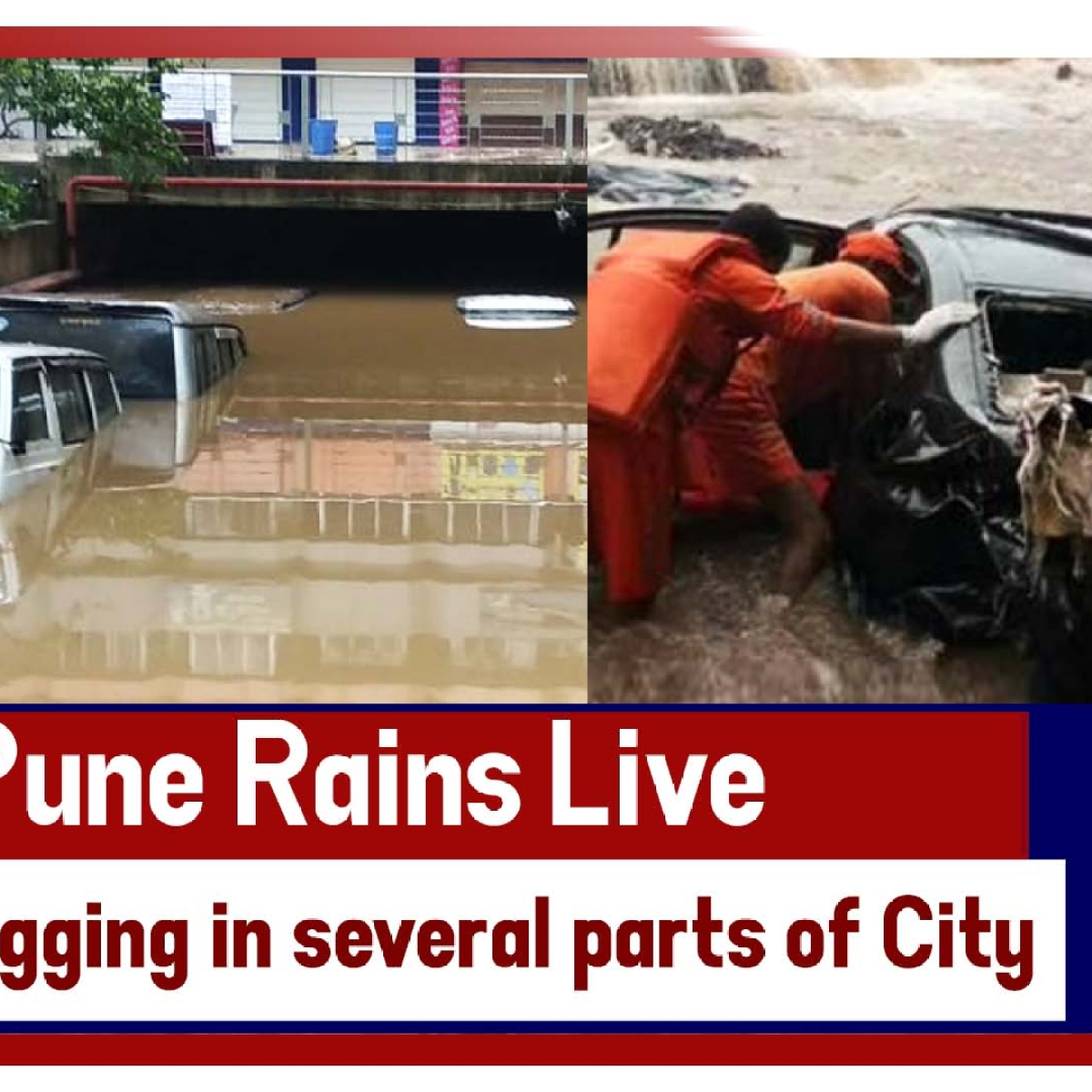 Pune Rains Live: Heavy Rains Lead To Water-Logging In Several Parts Of City