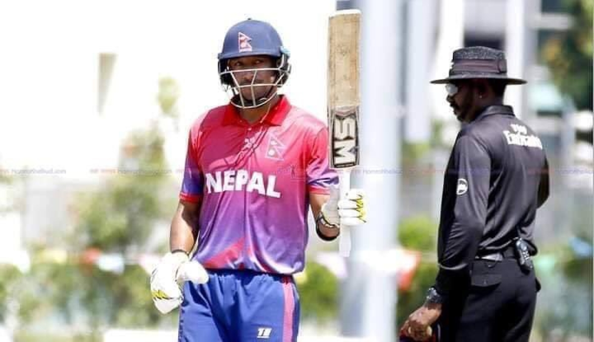 Nepal cricket team captain, Paras Khadka.