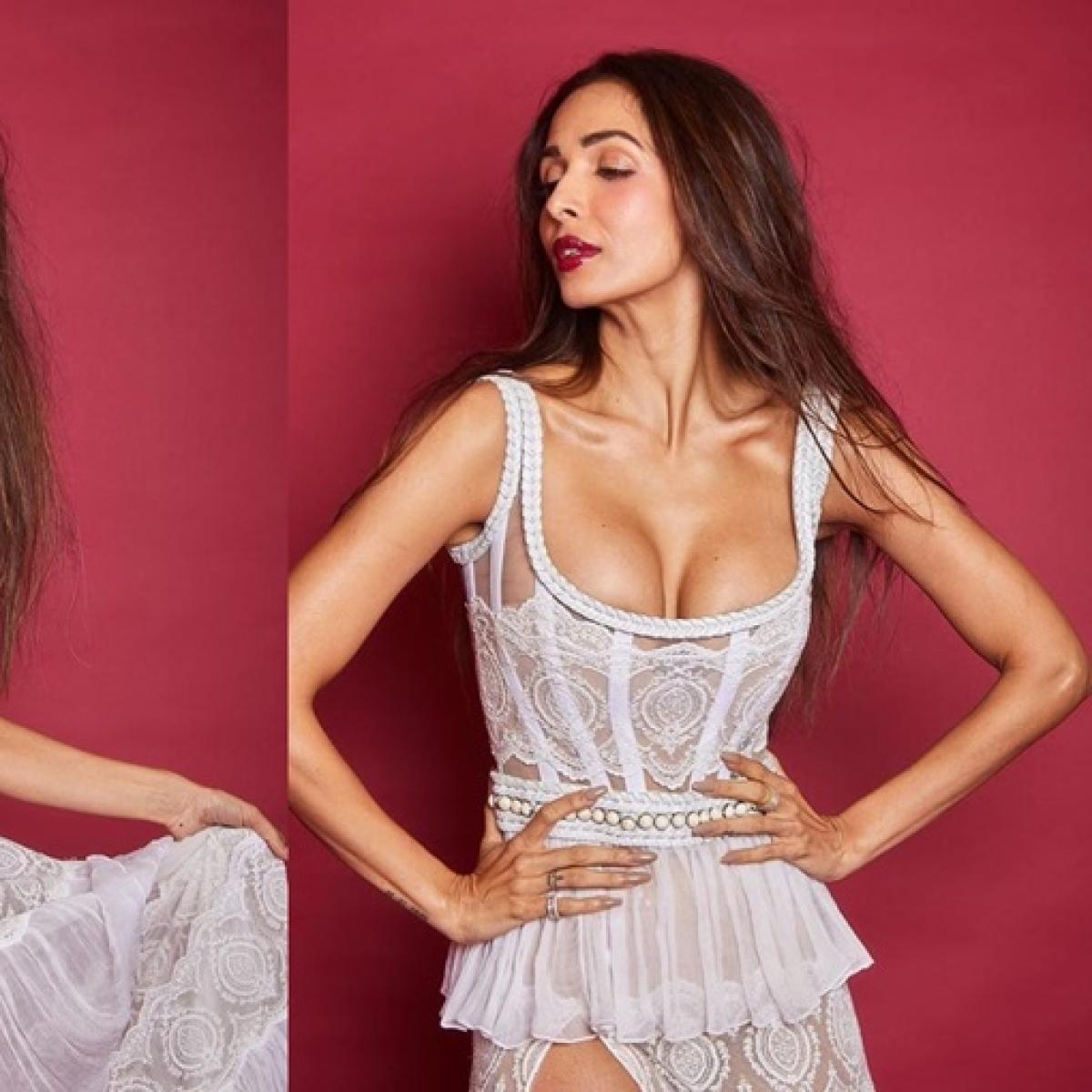 Malaika Arora's revealing dress grabs Arjun Kapoor's attention