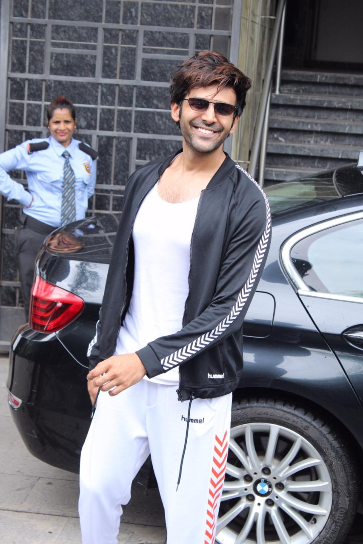 Sara Ali Khan's rumoured love interest Kartik Aaryan was spotted at gym today morning.