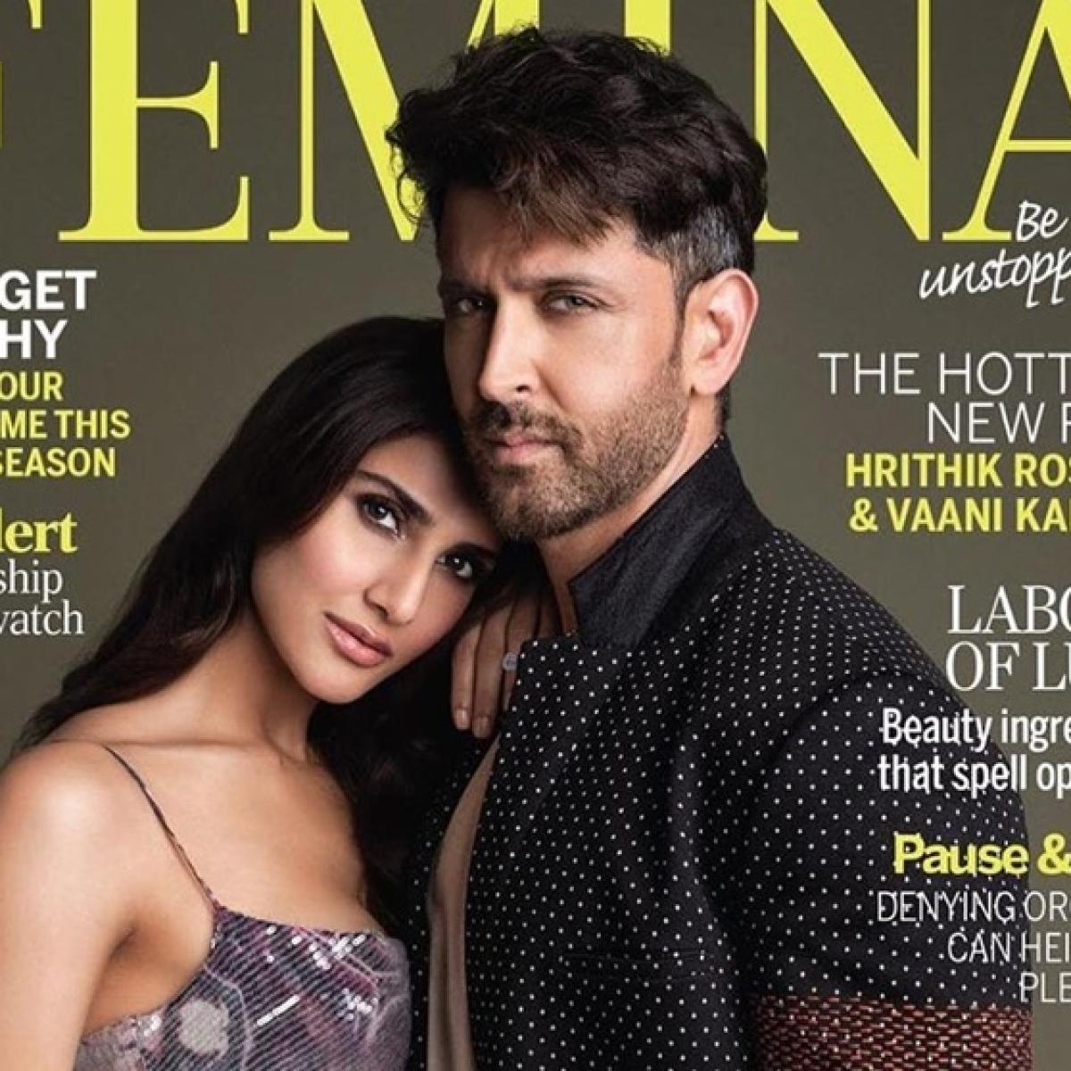 'War' duo Hrithik Roshan, Vaani Kapoor poses for latest magazine cover