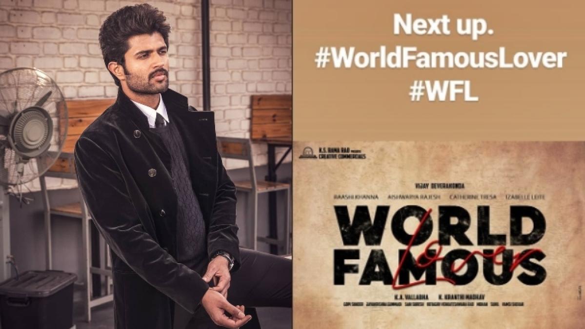 Vijay Deverakonda's next film gets the title 'World Famous Lover'