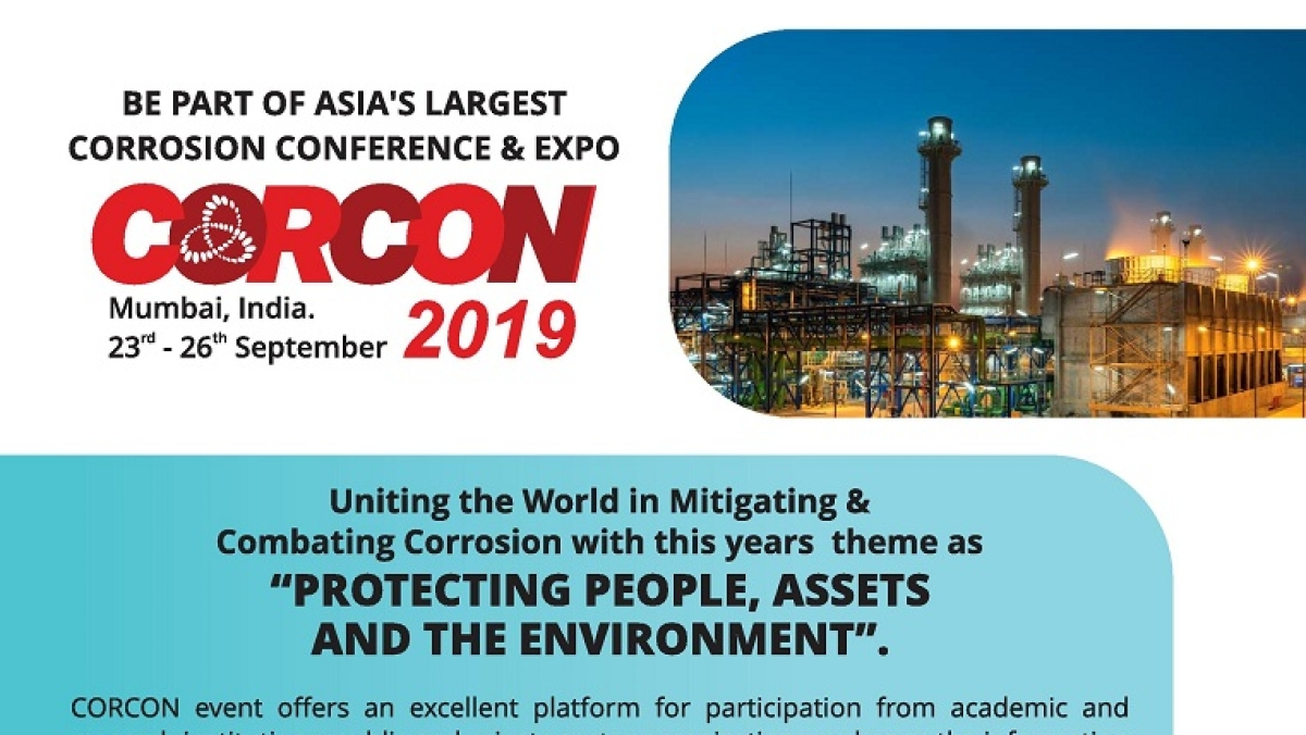 CORCON 2019 - International Corrosion Conference and Expo