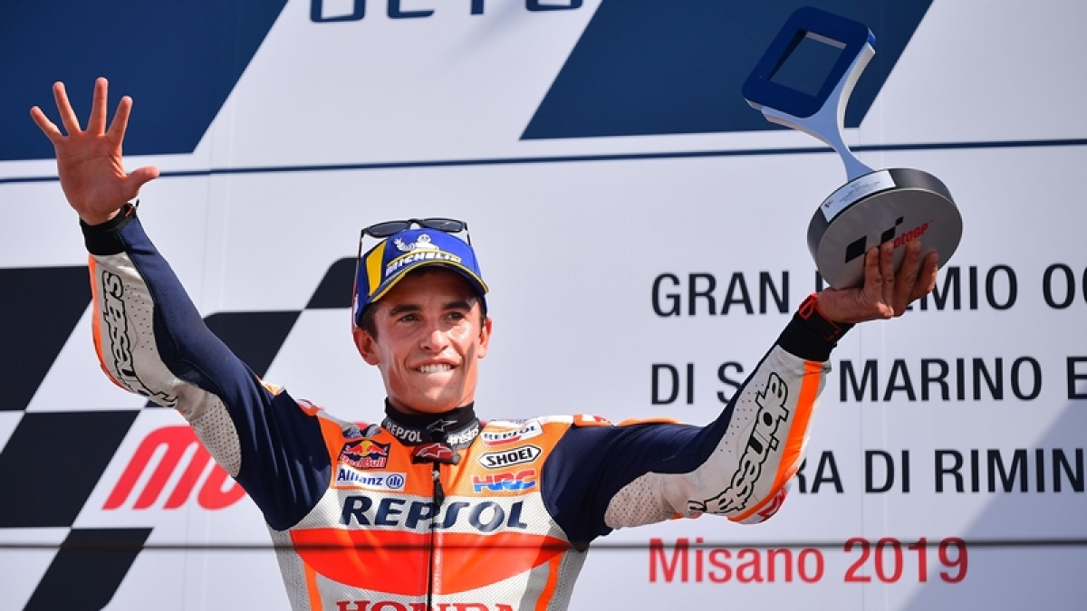 Marc Marquez wins San Marino MotoGP to close in on sixth title