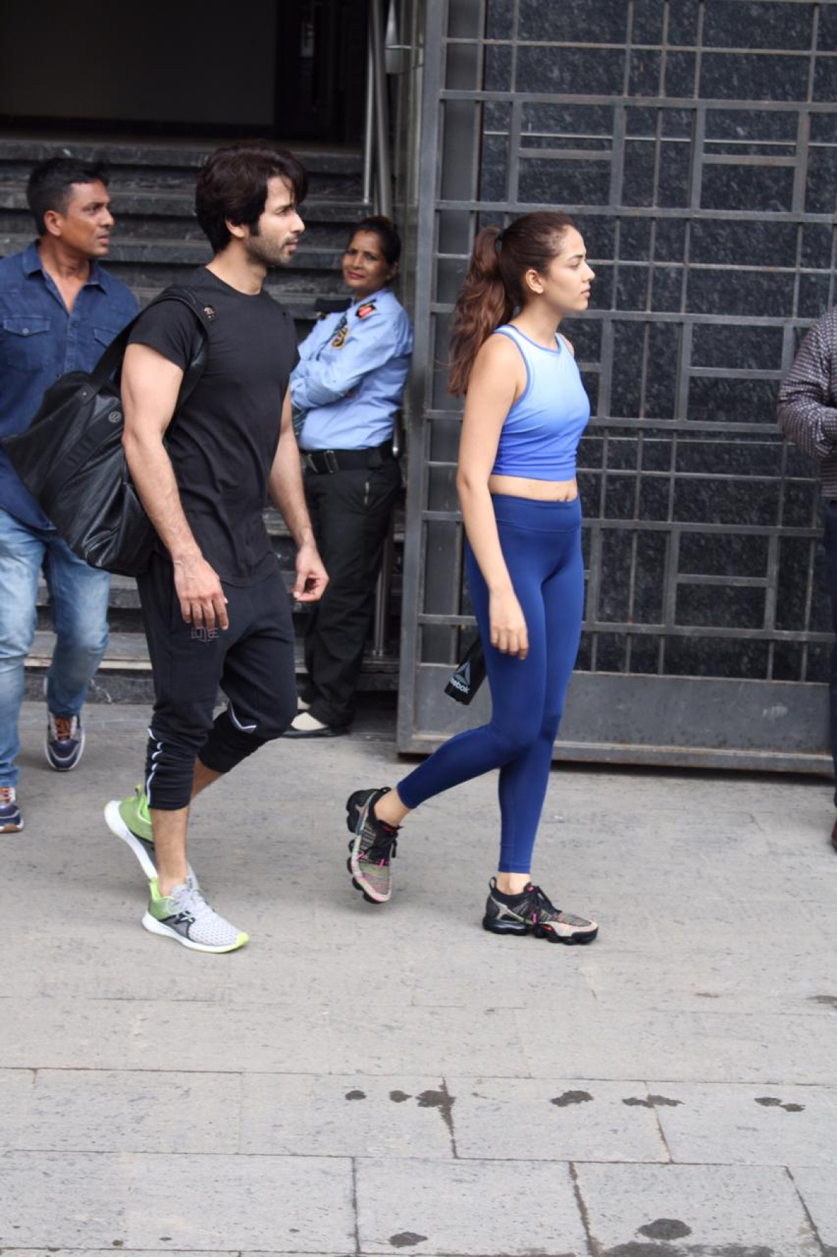 B town couple Shahid Kapoor & Mira Kapoor amped up couple goals as they both were spotted stepping out the gym in Juhu.
