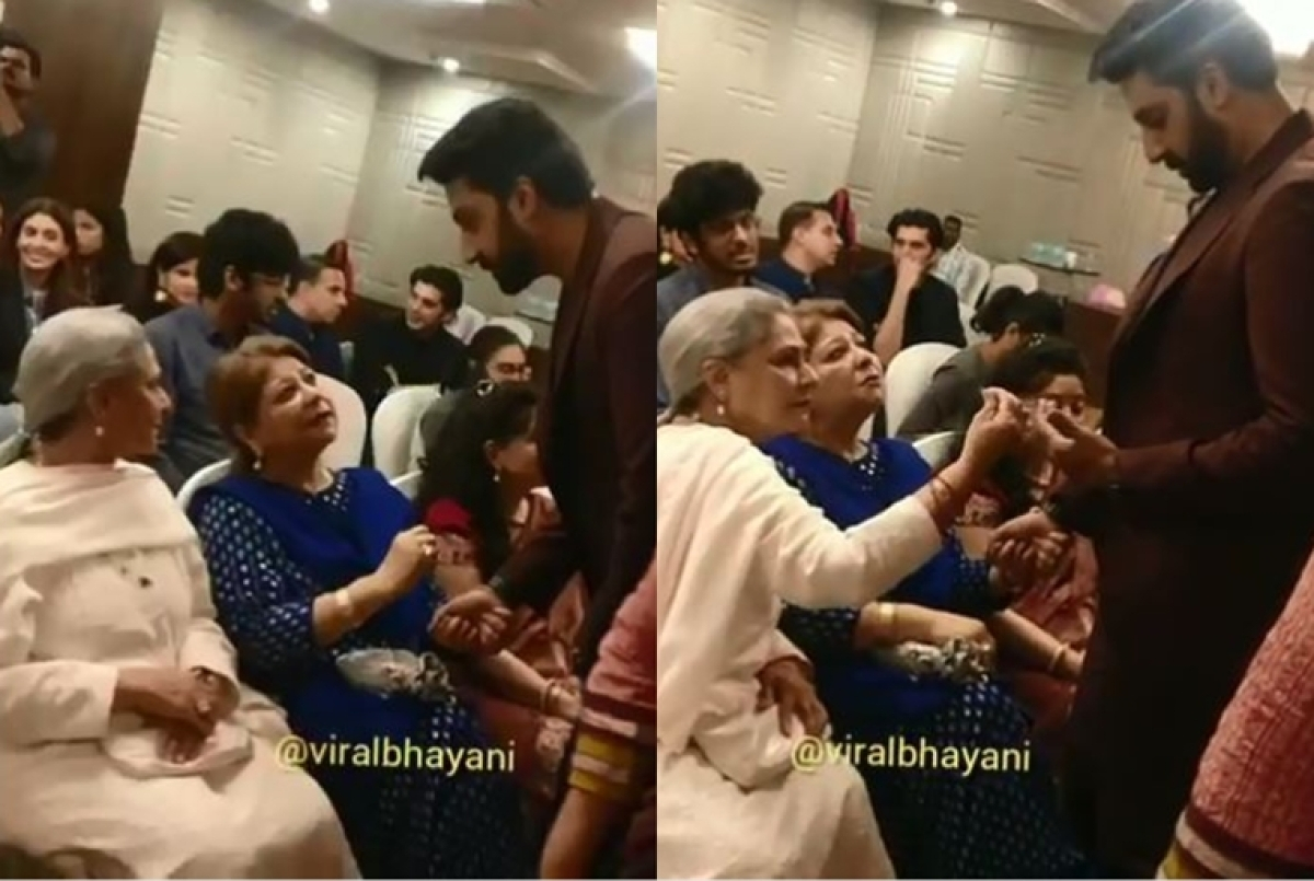 Jaya Bachchan is every Indian mom as she dusts off Abhishek Bachchan's clothes in latest video