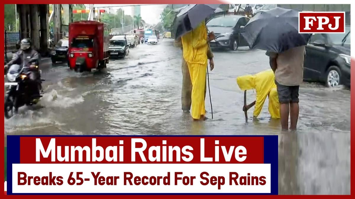 Mumbai Rains Live - Water-Logging At Several Places As Mumbai Breaks 65-Year Record For Sep Rains