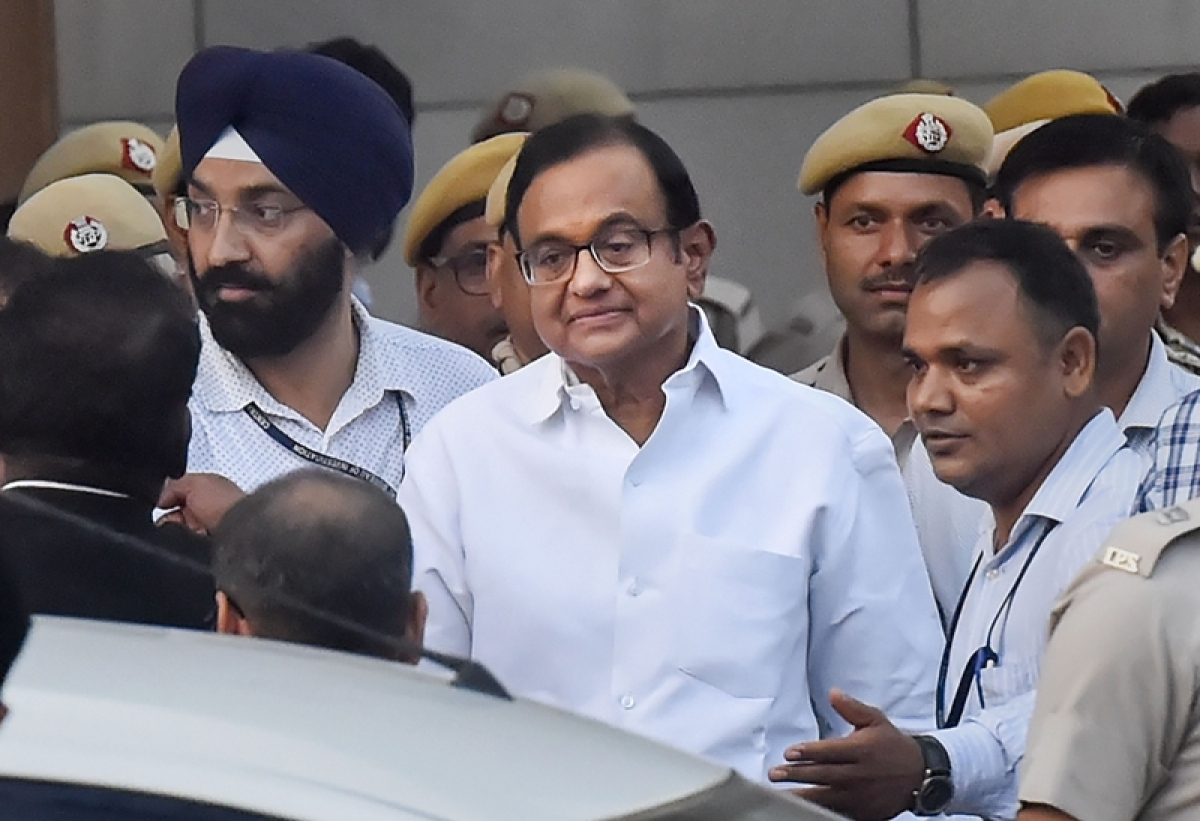 Congress leaders Ghulam Nabi Azad, Ahmed Patel, Karti meet Chidambaram in Tihar jail