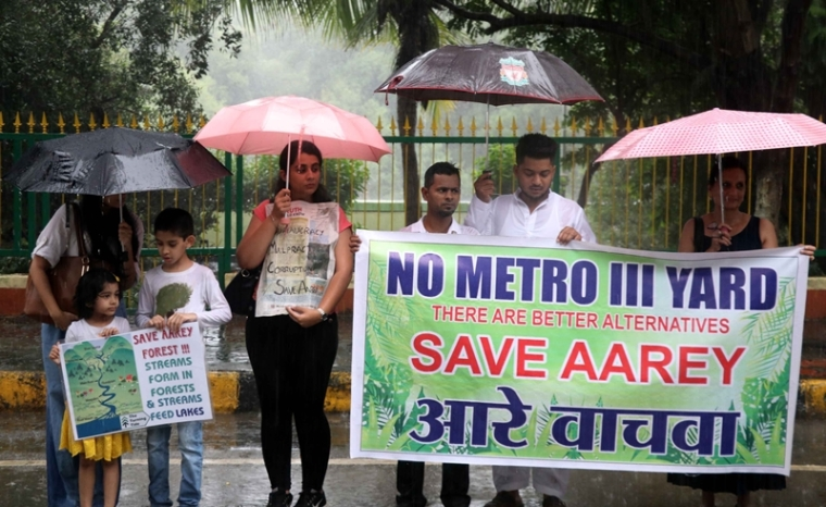 Aarey Metro 3 carshed: Fight to save city's last green lung: 'Ayes' & 'noes' take protest to BKC