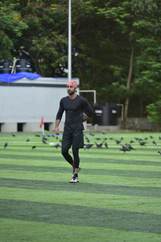 Arjun Kapoor, Abhishek Bachchan, and Ranbir Kapoor sweat it out on football field