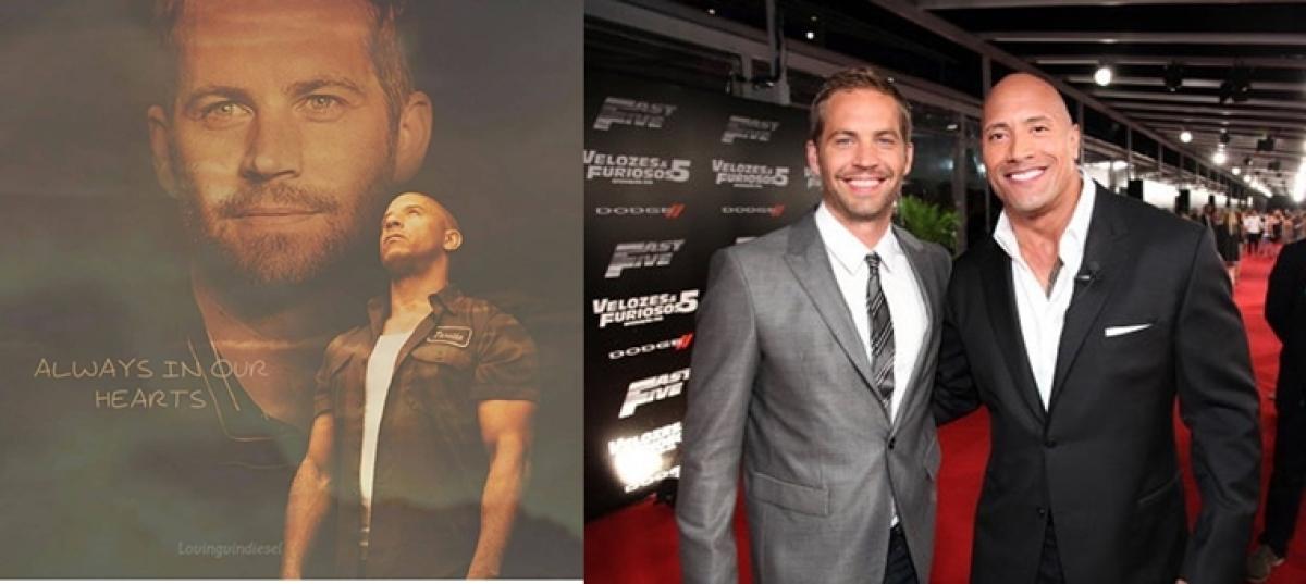 Vin Diesel, Dwayne Johnson pen emotional Instagram post on Paul Walker's 46th birth anniversary