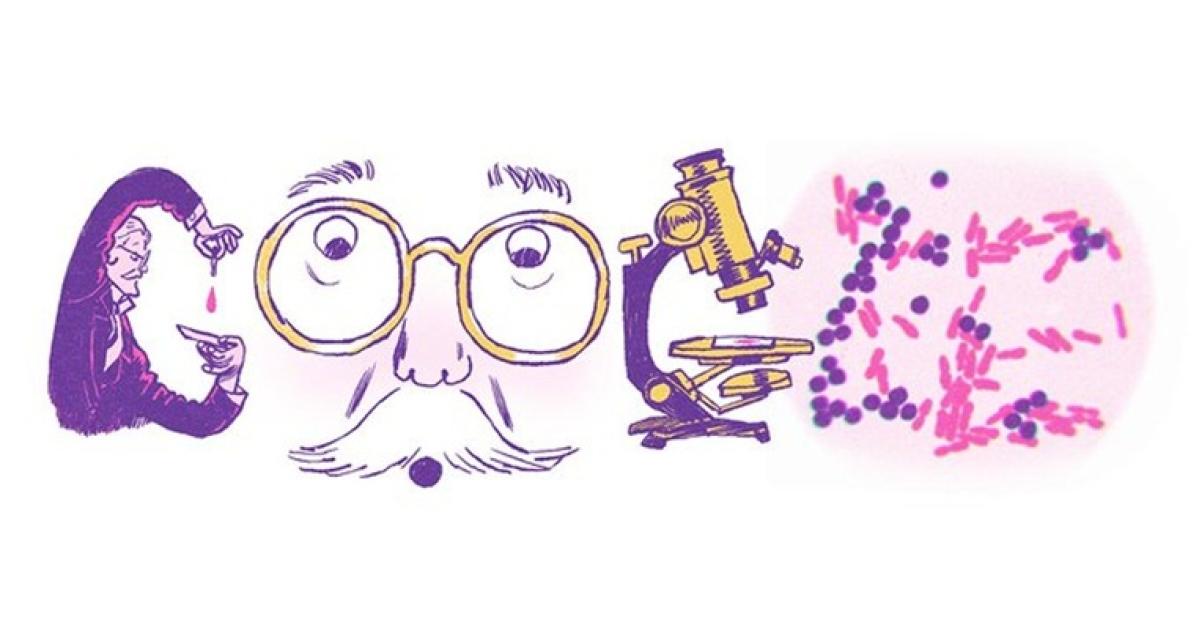 Danish bacteriologist Hans Christian Gram on Google Doodle