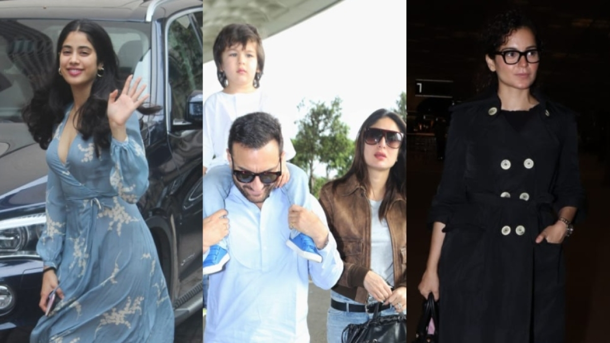 In Pics: Janhvi Kapoor, Taimur Ali Khan, Kangana Ranaut, and other B-towners clicked across Mumbai