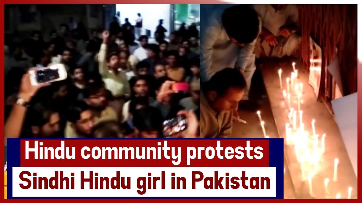 Hindu Community Protests Against Alleged Murder Of Sindhi Hindu Girl In Pakistan's Karachi