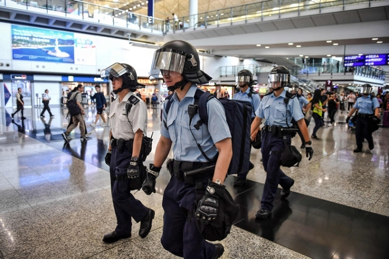 Flights cancelled after Hong Kong protesters target airport