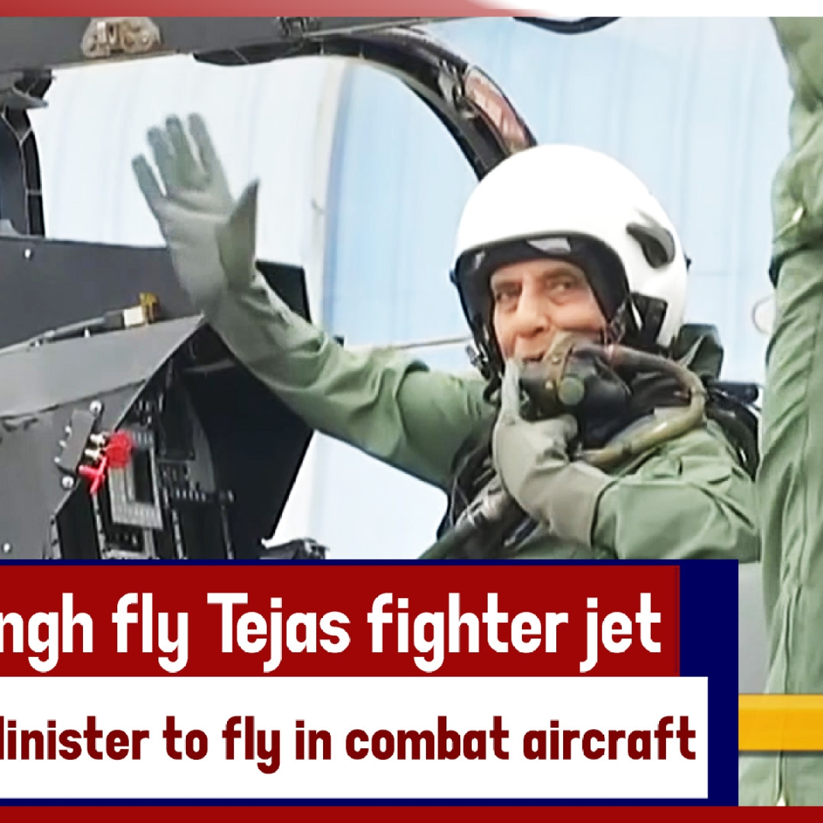 Watch: Rajnath Singh Fly Tejas Fighter Jet, Becomes First Defence Minister To Fly In Combat Aircraft