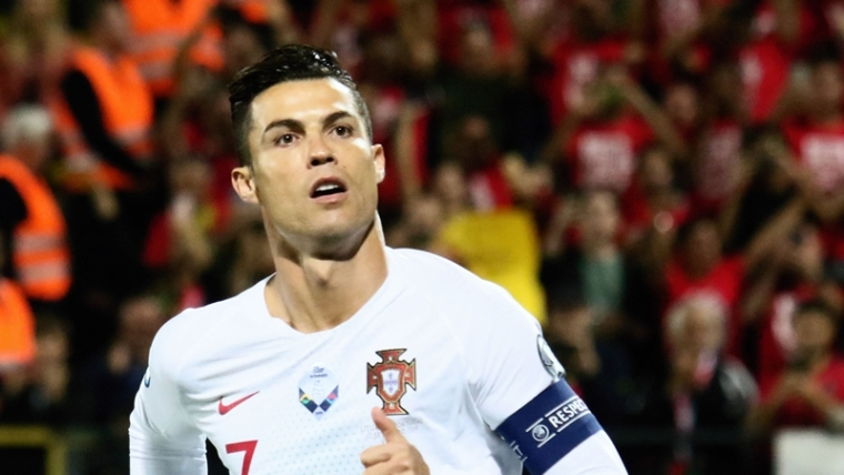 Cristiano Ronaldo scores four goals as Portugal crush Lithuania 5-1 in Euro 2020 qualifying match
