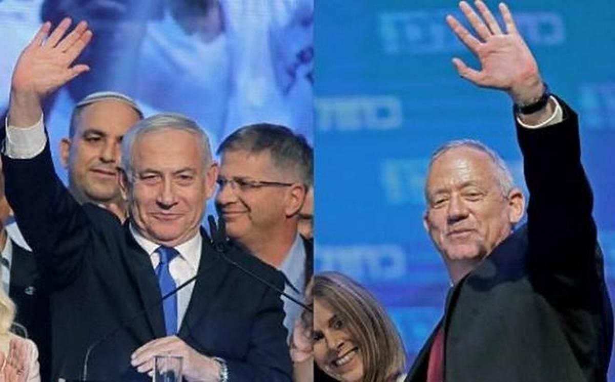 Israel's Benjamin Netanyahu, Benny Gantz agree to explore unity government in first meeting