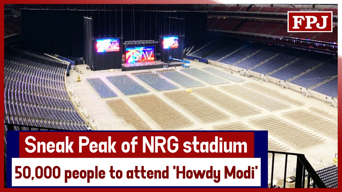 Sneak Peak of NRG stadium where 50,000 people to attend 'Howdy Modi' event
