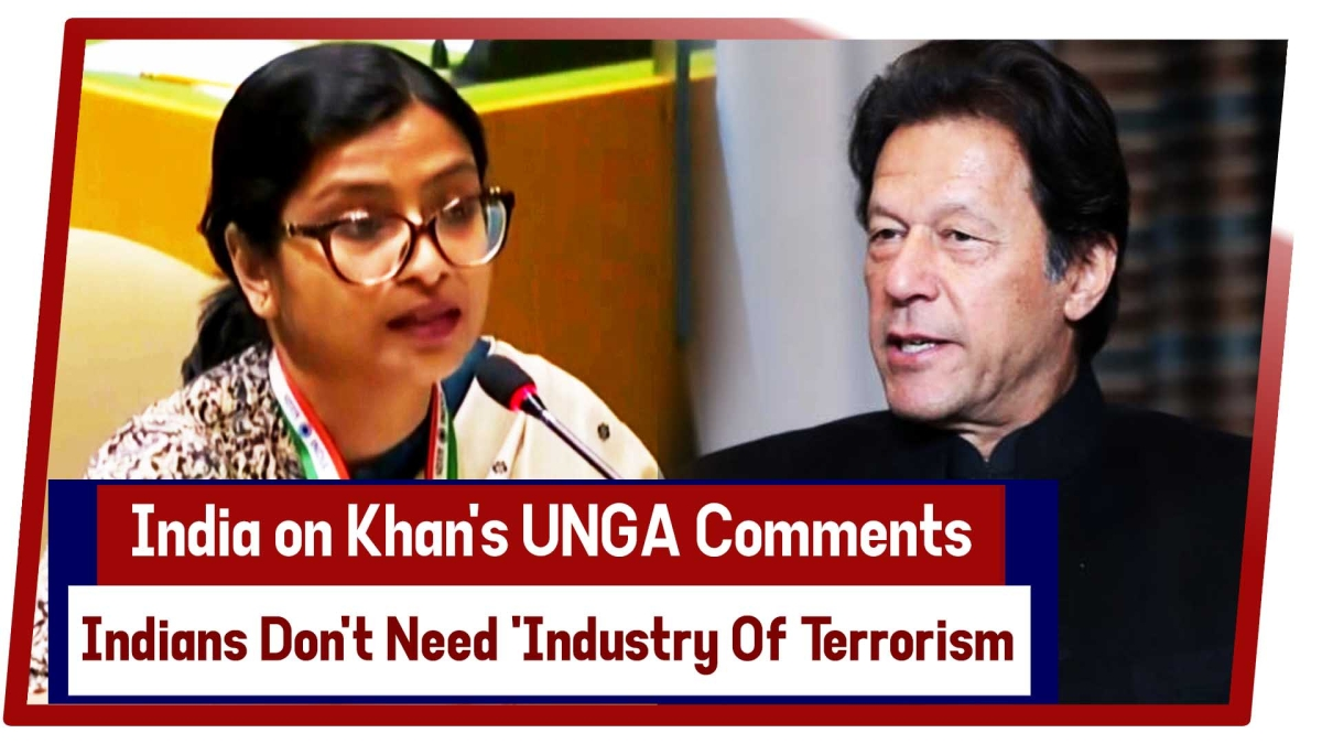 India Reply Pak PM Khan's UNGA - Indians Don't Need 'Industry Of Terrorism' To Speak On Their Behalf