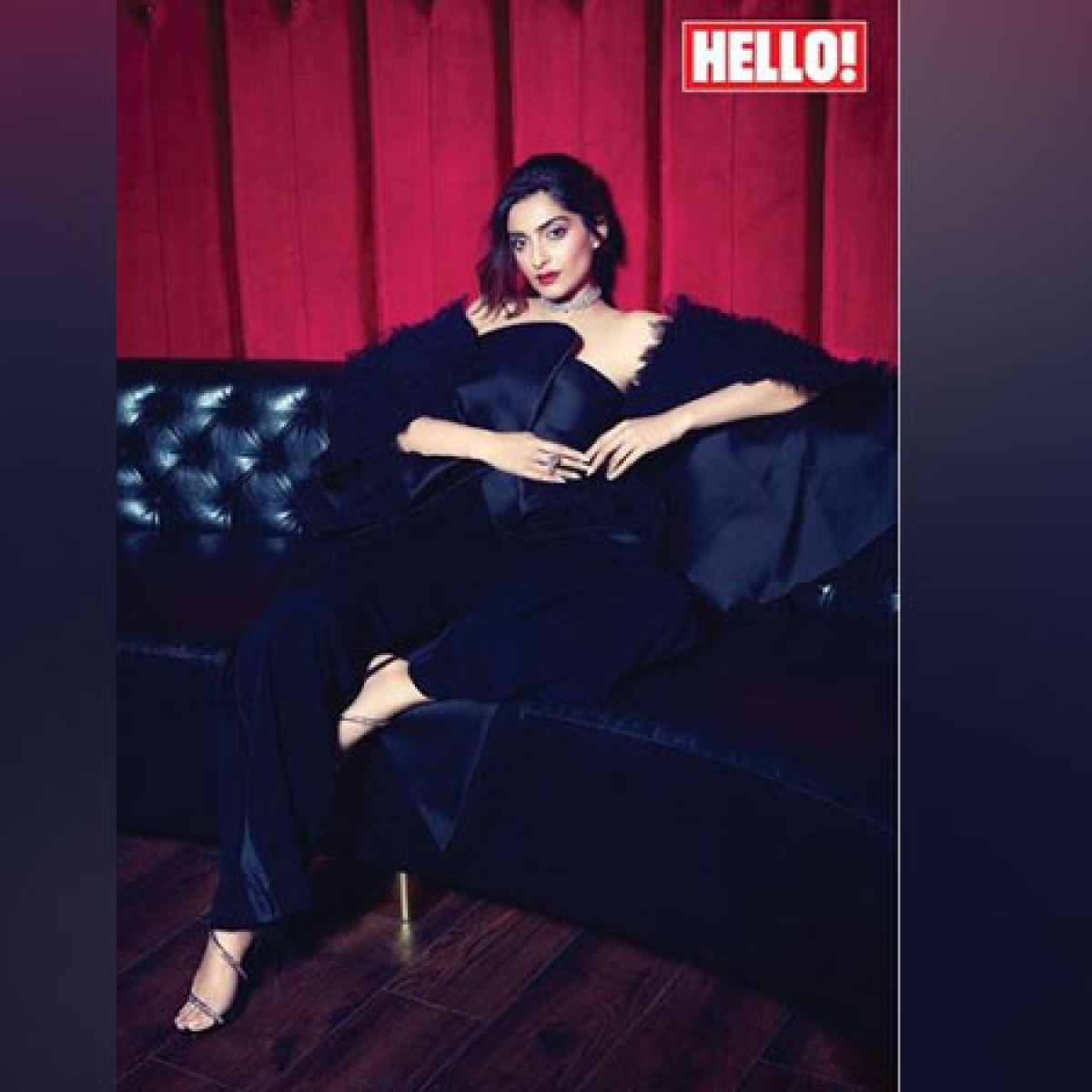 Sonam Kapoor Ahuja sizzles in black on Hello magazine cover