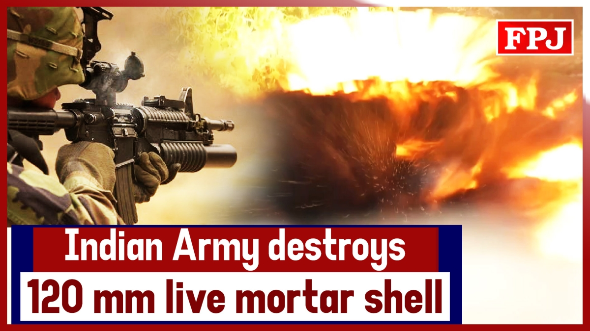 Indian Army Destroys 120 mm Live Mortar Shell In Jammu and Kashmir