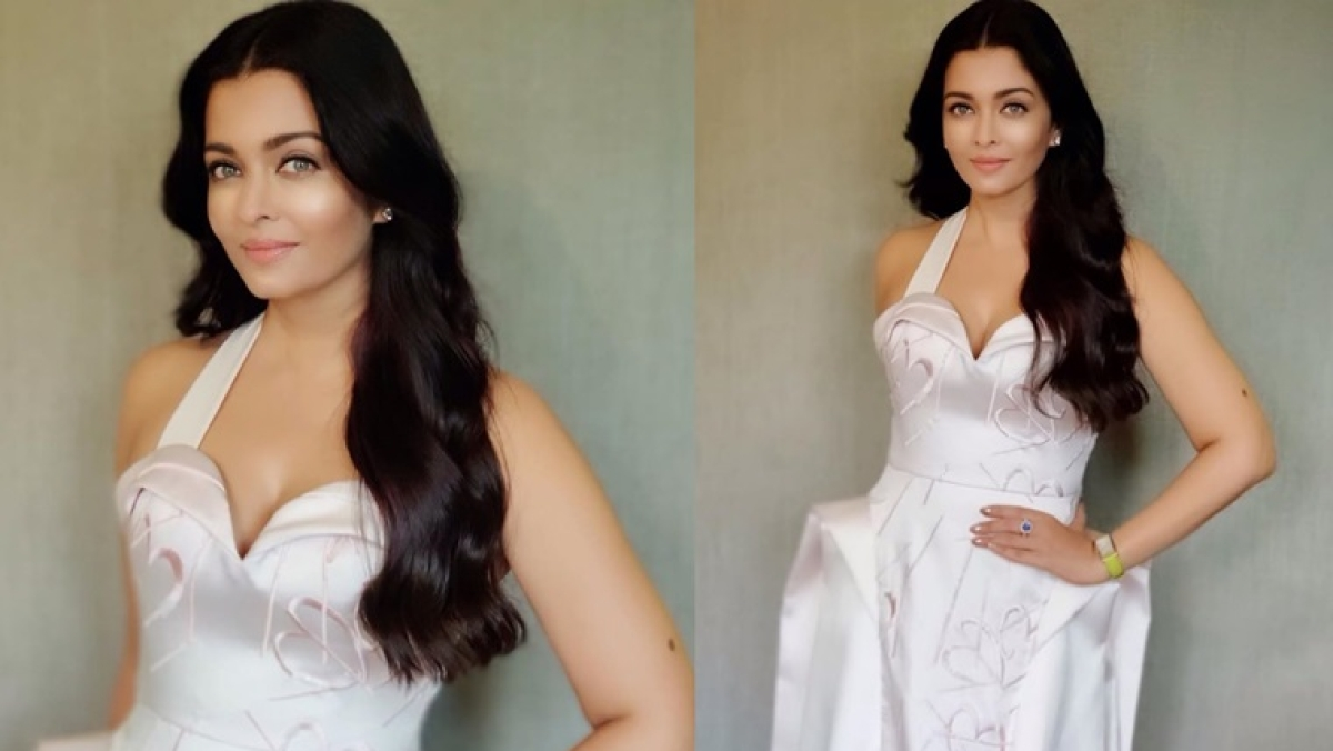 Aishwarya Rai Bachchan is a Roman beauty in this pristine white gown