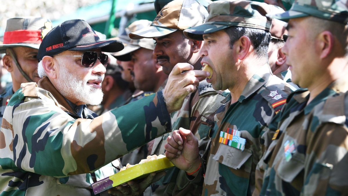 PM Modi celebrates another Diwali with soldiers