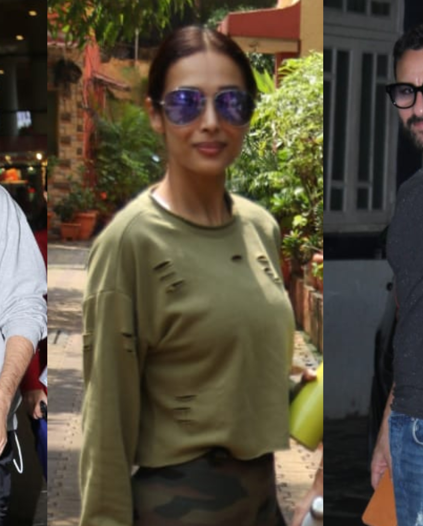 Shahid Kapoor, Malaika Arora, Saif Ali Khan clicked by Paparazzi in the city