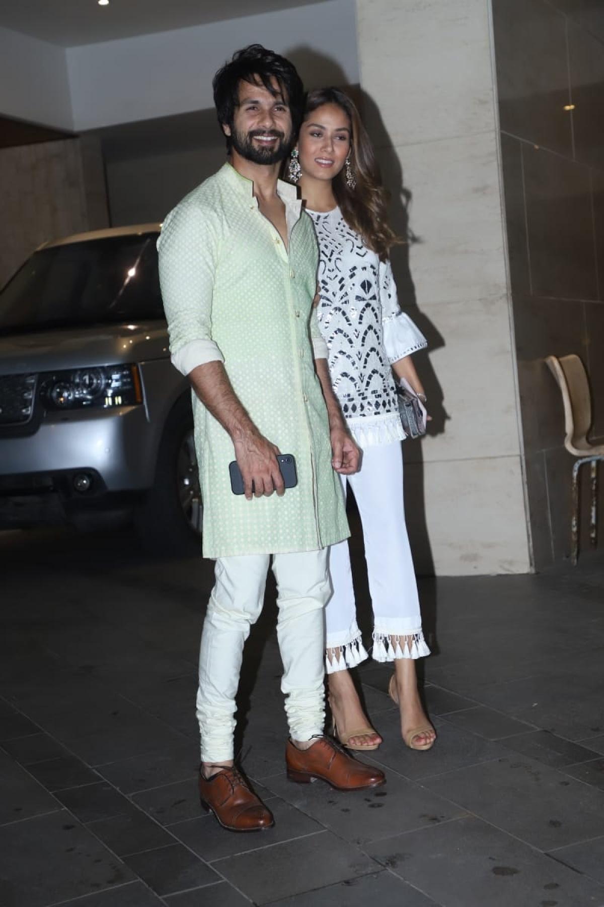 Shahid Kapoor and Mira Kapoor at Jackky Bhagnani Diwali bash