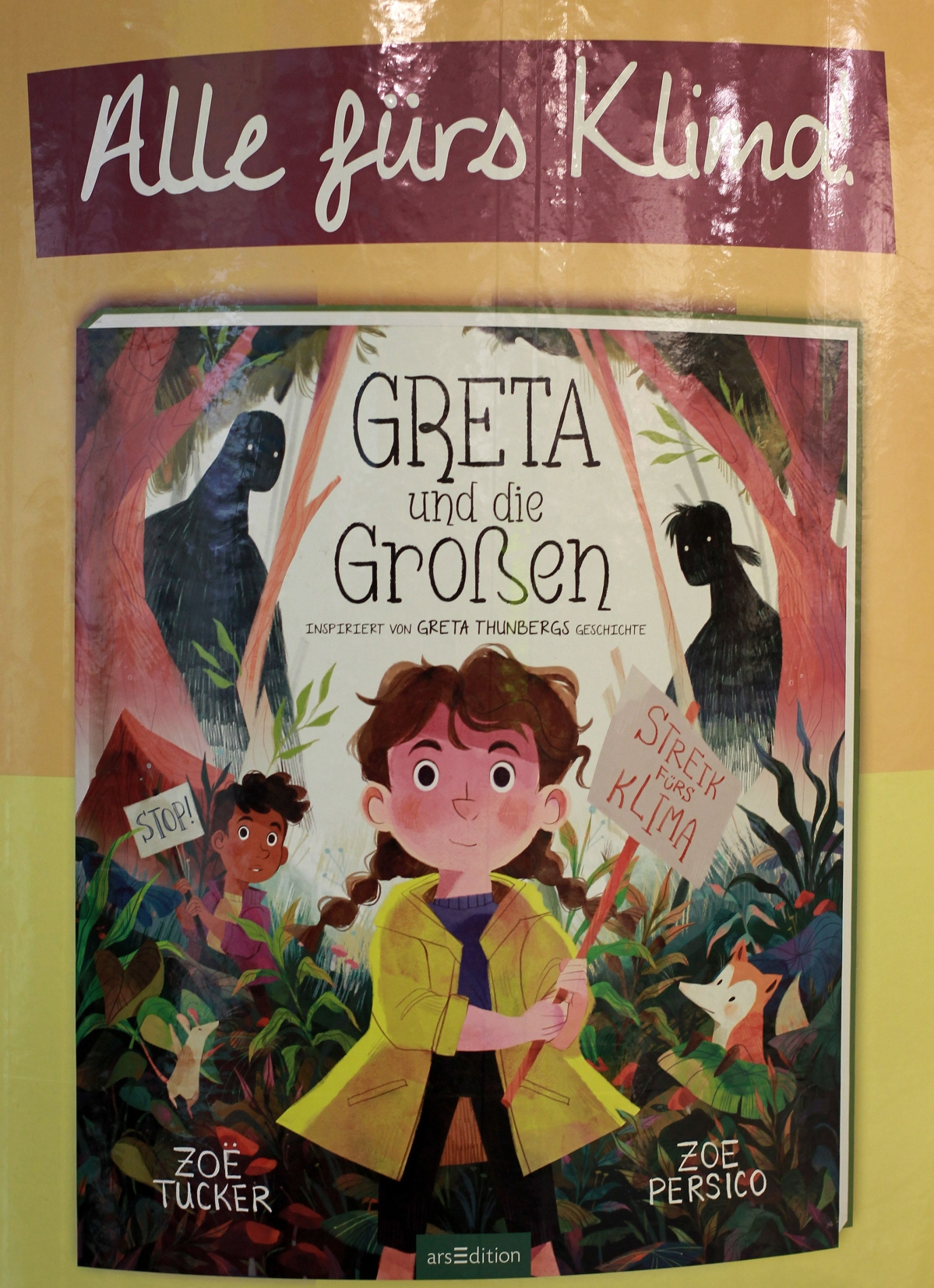 Children's book inspired by  climate activist Greta Thunberg at the Frankfurt book fair 2019.