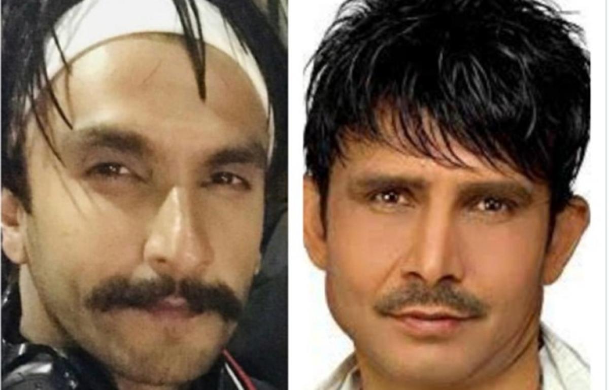 KRK says Ranveer looks like Rs 2 person; Twitter says,'Nikal l*** pehli fursat me nikal'