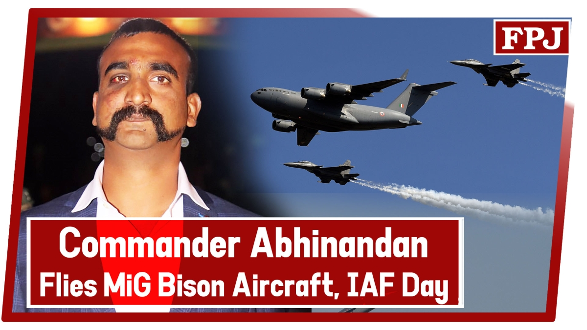 Wing Commander Abhinandan Varthaman Flies MiG Bison Aircraft During Air Force Day Parade