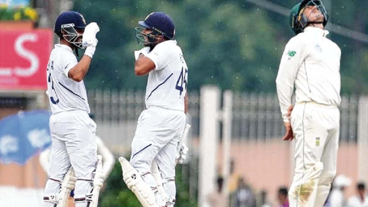 Rohit Sharma, Ajinkya Rahane rock solid against South Africa