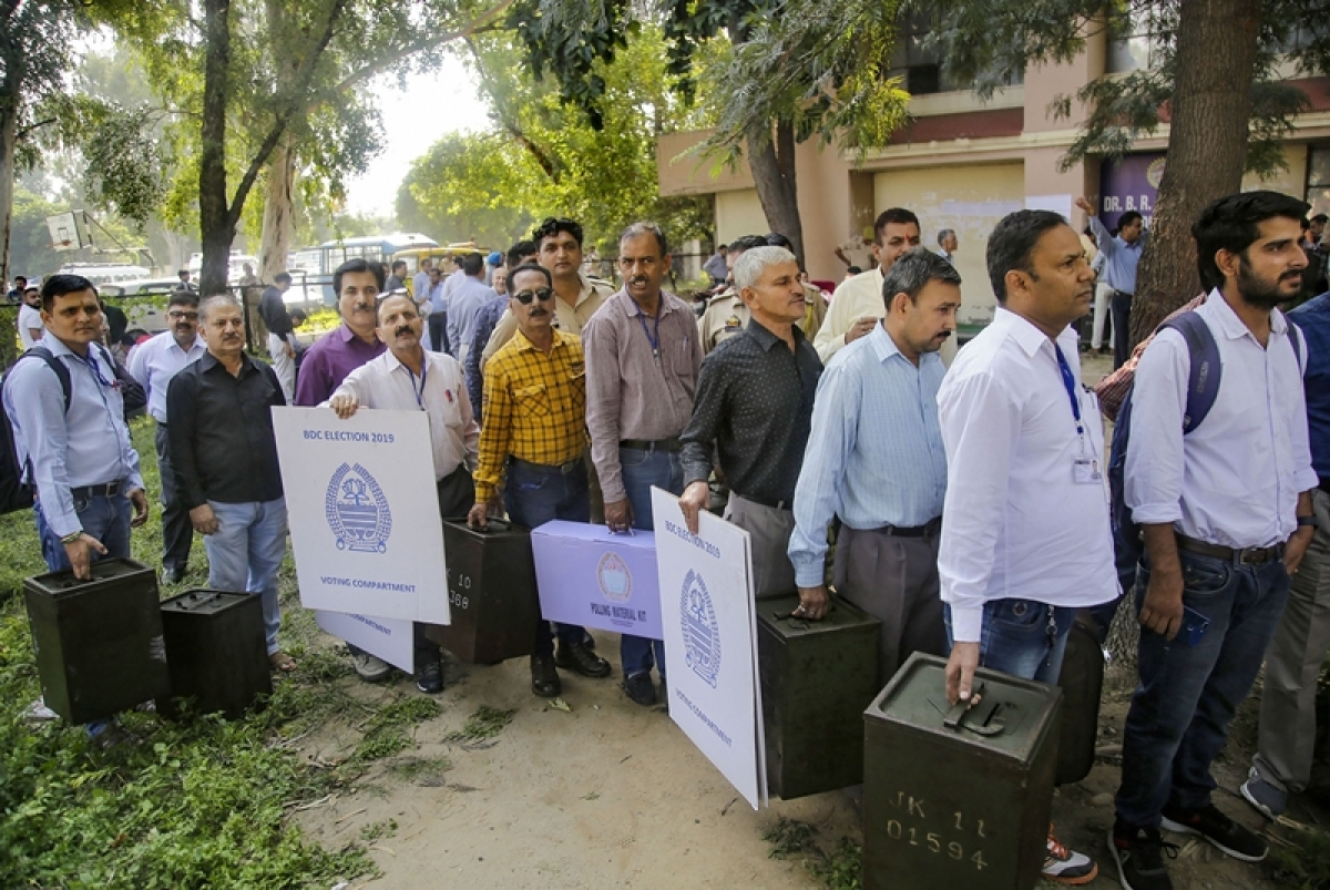 Amid tight security, Jammu&Kashmir block development council polls begins