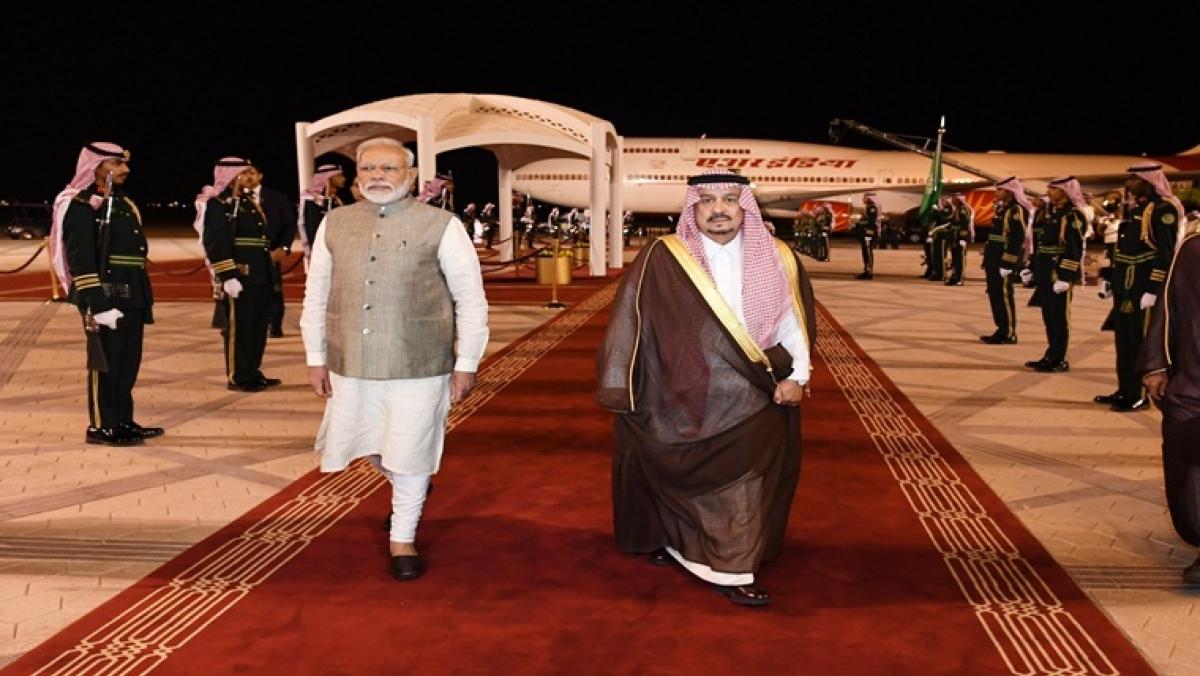 PM Modi lands in Saudi, hails 'valued friend'