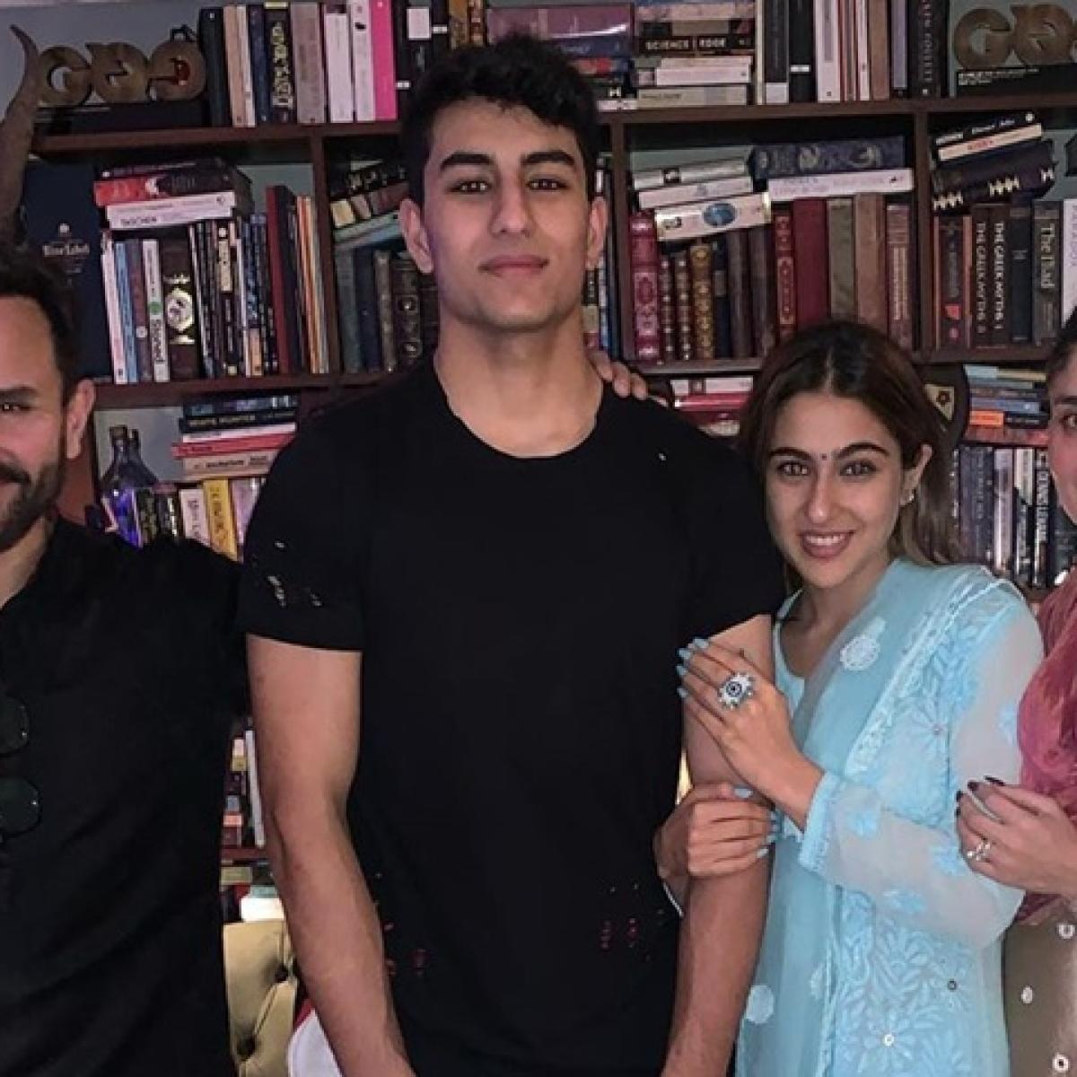 Sara Ali Khan kickstarts Diwali celebrations with Saif, Kareena, Ibrahim and Taimur