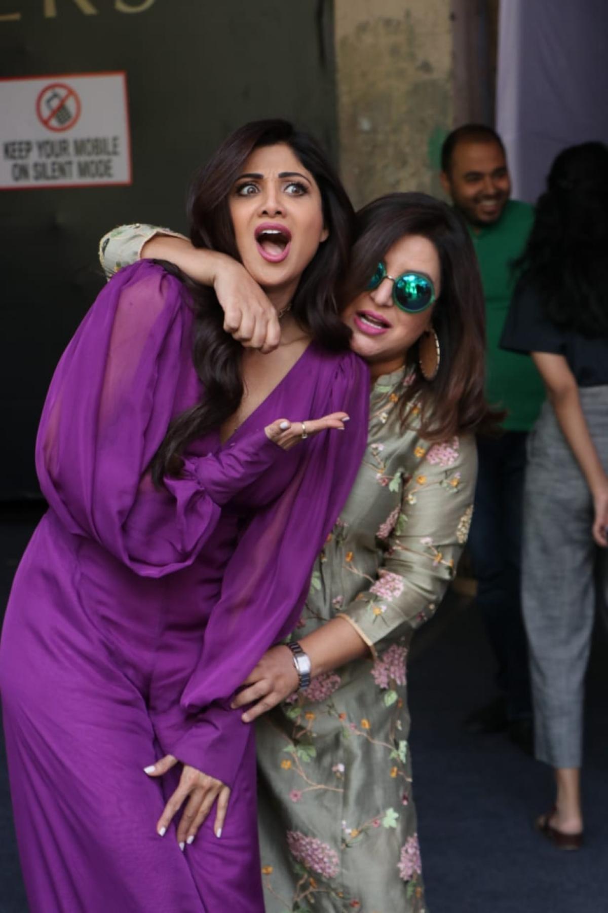 Shilpa Shetty with Farah Khan