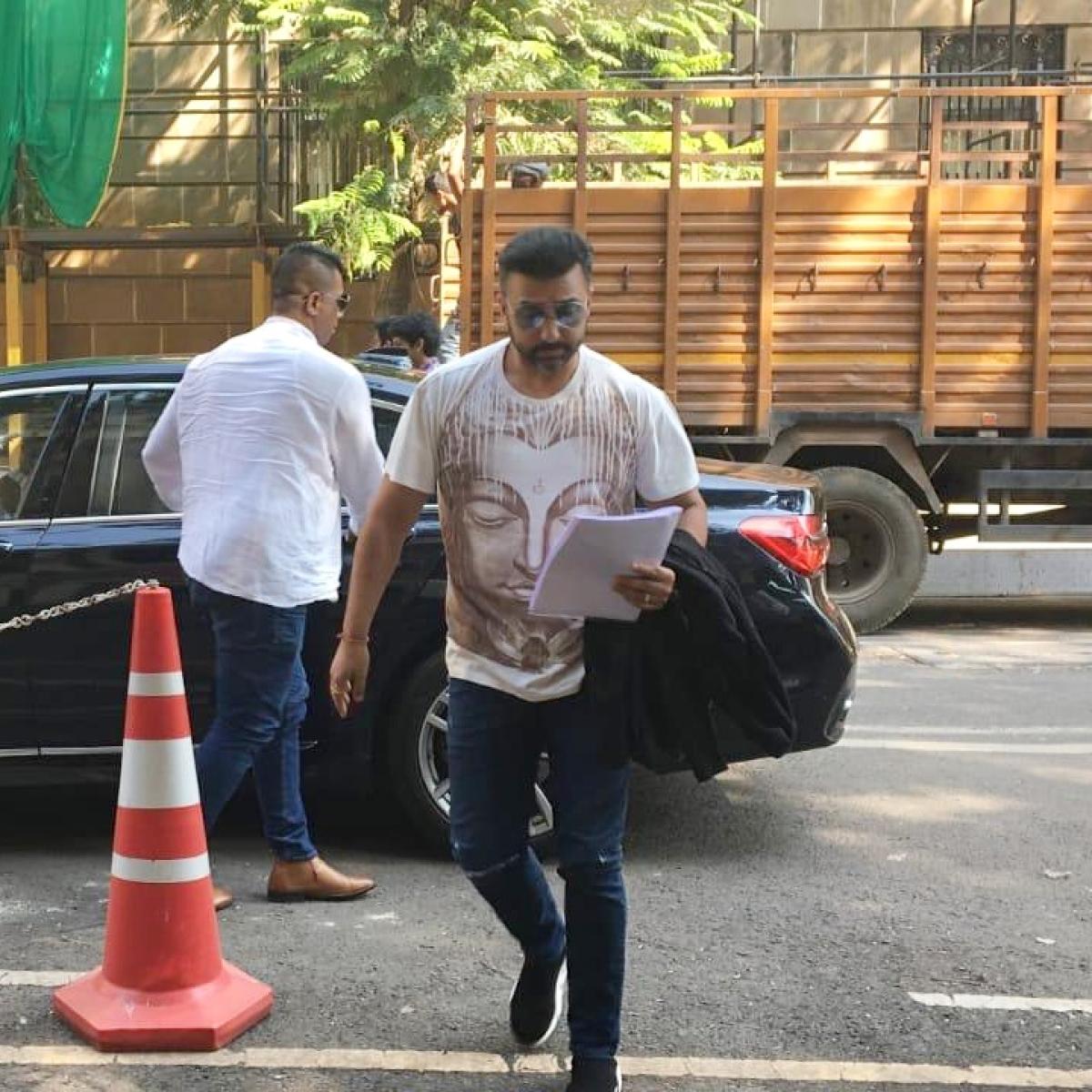 Raj Kundra shows up at ED again