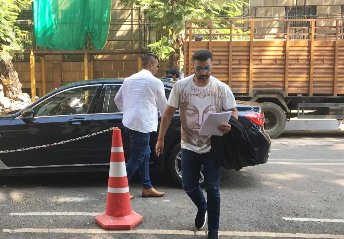 Shilpa Shetty's husband Raj Kundra appears before ED in Iqbal Mirchi money laundering case