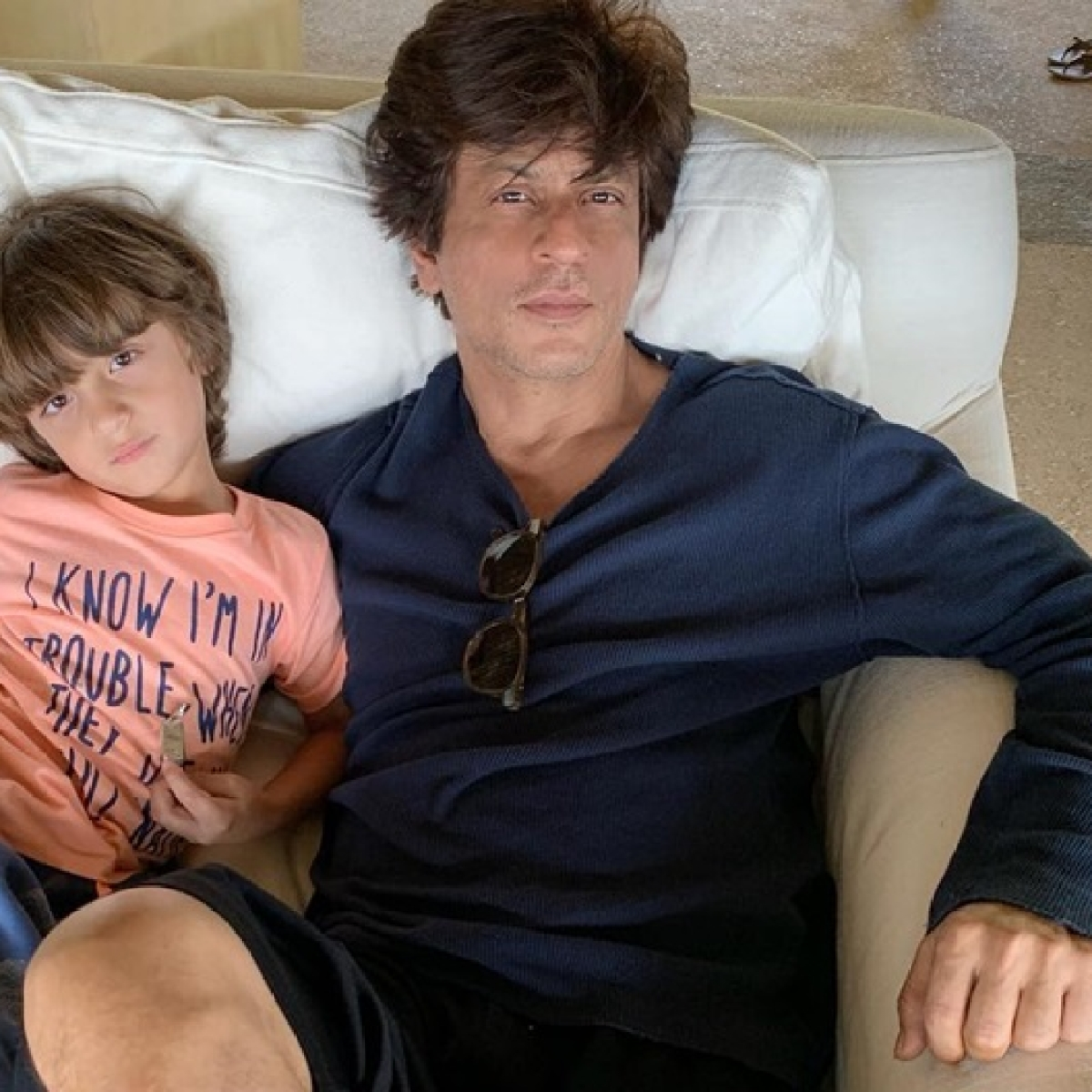 Papa it's not new, it's just you: AbRam's epic reaction to Shah Rukh Khan's appearance on Letterman