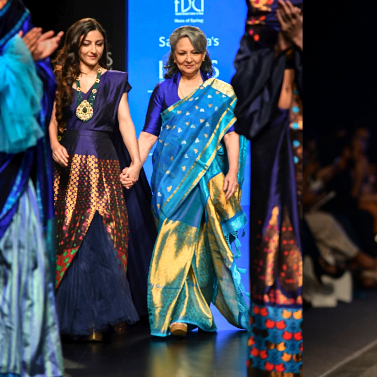 Beauty through ages: Sharmila Tagore and Soha Ali Khan turn showstoppers for Sanjukta Dutta at IFW 2020