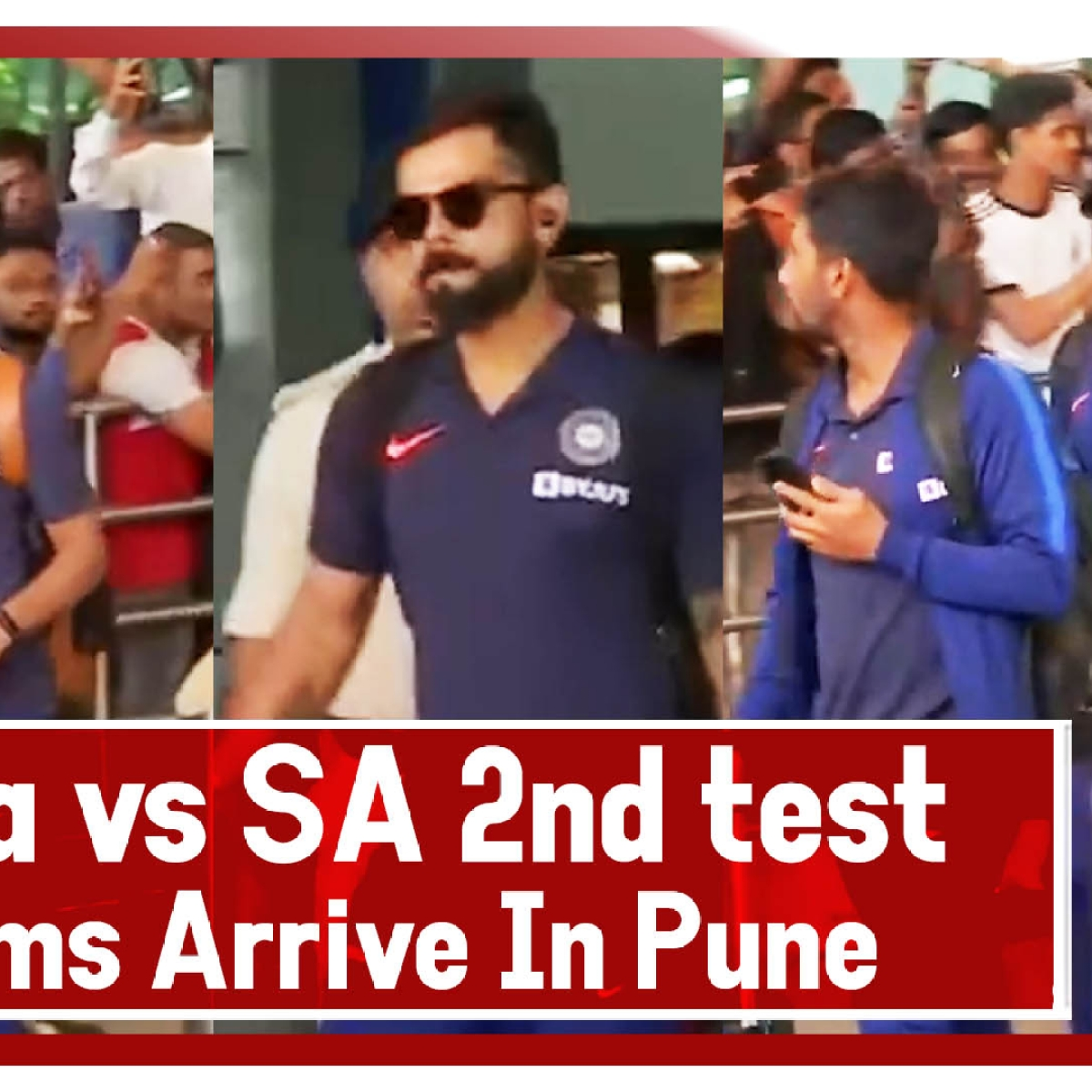 India vs South Africa, 2nd Test- Teams Arrive In Pune