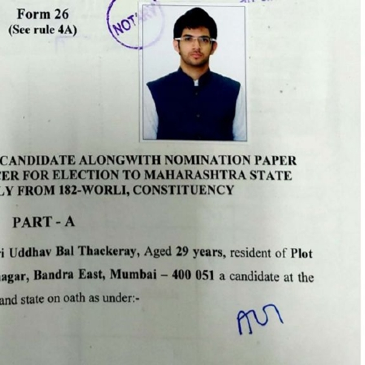Rs 16.05 crore assets including BMW car: Here's Aaditya Thackeray's total worth as per his election affidavit