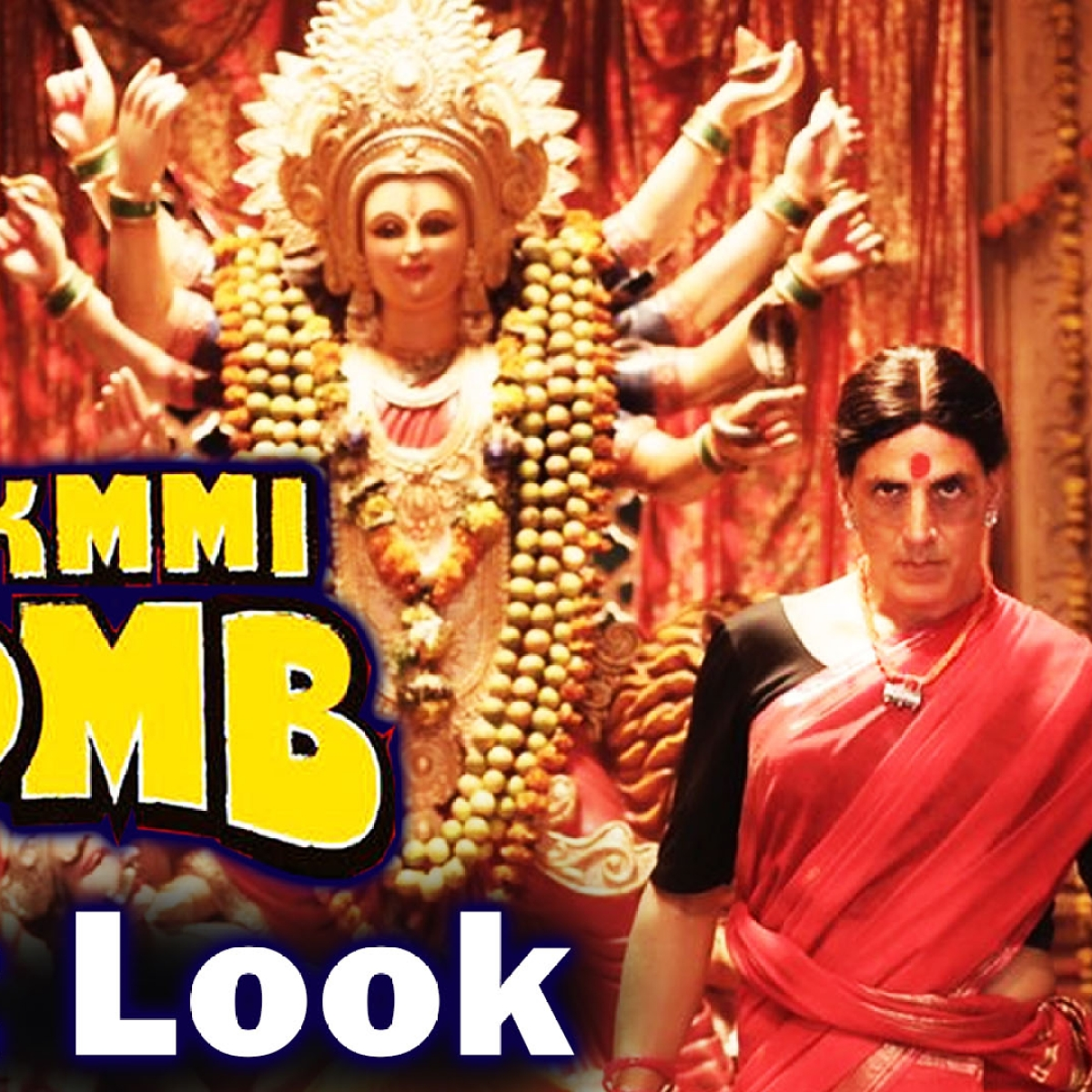 Laxmmi bomb First Look Release | Akshay Kumar reveals his saree-clad avatar on occasion of Navratri