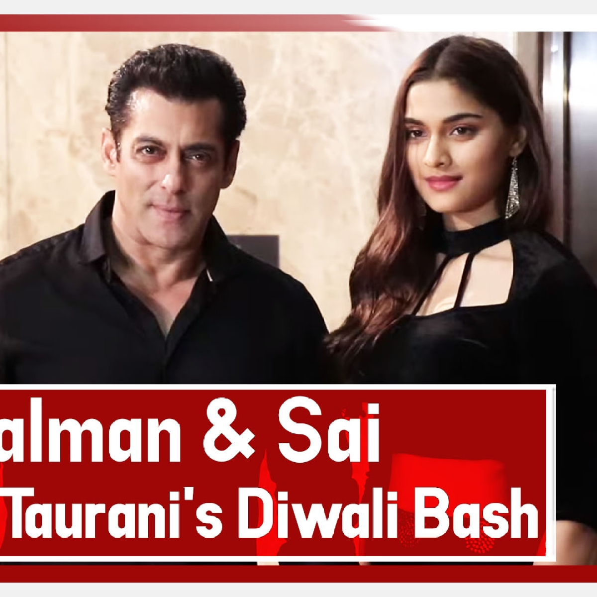 Dabangg 3: Salman Khan And Sai Manjrekar At Ramesh Taurani's Diwali Bash 2019