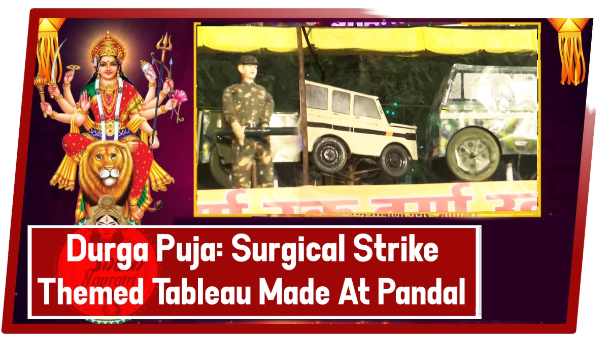 Durga Puja: Surgical Strike Themed Tableau Made At Pandal In Bhopal